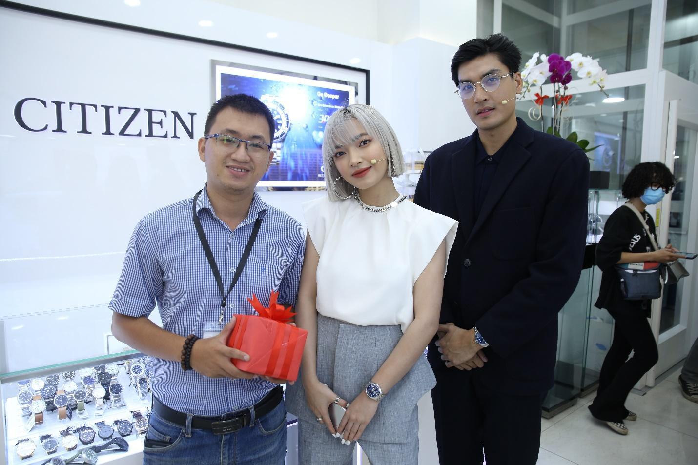 Châu Bùi, Quang Đại khoe thần thái trong sự kiện ra mắt BST mới từ CITIZEN - Ảnh 2.
