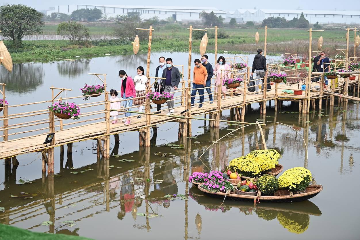 Home Hanoi Xuan 2021 - Nơi gặp gỡ hoa cỏ mùa xuân - Ảnh 2.