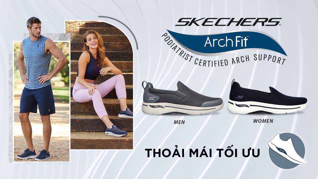 """Giày thể thao Skechers Gowalk Arch Fit - """"item"""" mới trong bộ sưu tập của các tín đồ thời trang năng động - Ảnh 1."""