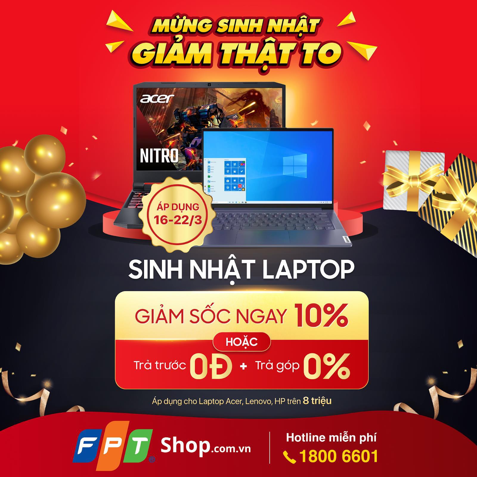FPT Shop giảm 10% hàng trăm mẫu laptop - Ảnh 2.