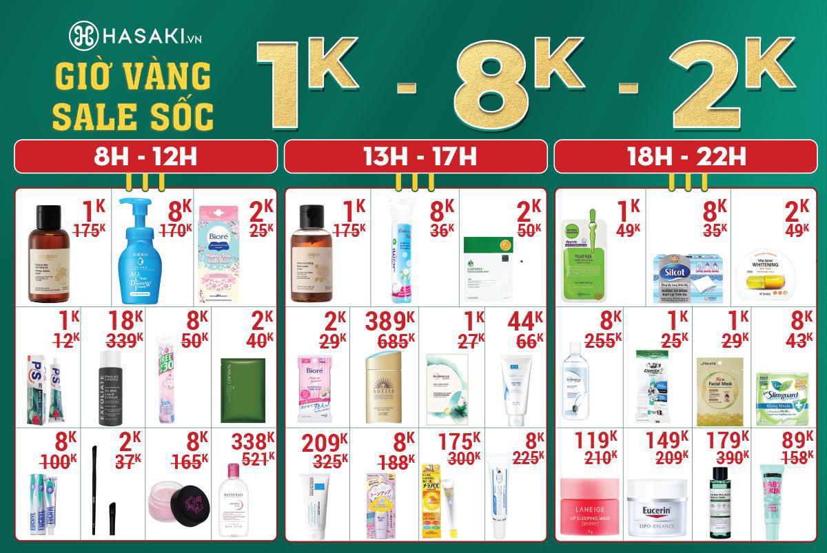 HOT: Hasaki chi nhánh 16 tại Hà Nội sẽ khai trương vào ngày 7/3, các tín đồ chuẩn bị mua sắm thả ga với hàng loạt deal HOT chỉ 1K, 8K, 2K - Ảnh 1.