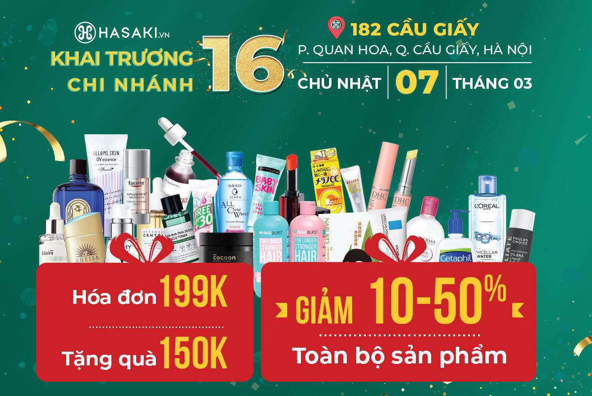 HOT: Hasaki chi nhánh 16 tại Hà Nội sẽ khai trương vào ngày 7/3, các tín đồ chuẩn bị mua sắm thả ga với hàng loạt deal HOT chỉ 1K, 8K, 2K - Ảnh 2.