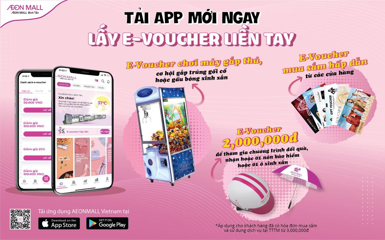 AEON Mall Bình Tân mang xuân trở lại, tặng e-voucher cho khách hàng tải app - Ảnh 2.