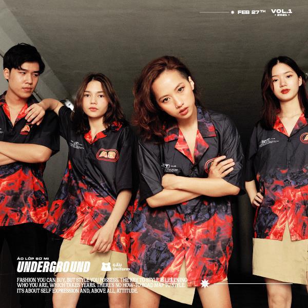 GẤU Uniform: Phá cách trong BST áo lớp sơ mi hoàn toàn mới - Underground - Ảnh 1.
