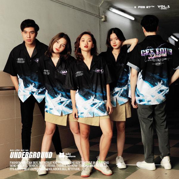 GẤU Uniform: Phá cách trong BST áo lớp sơ mi hoàn toàn mới - Underground - ảnh 2