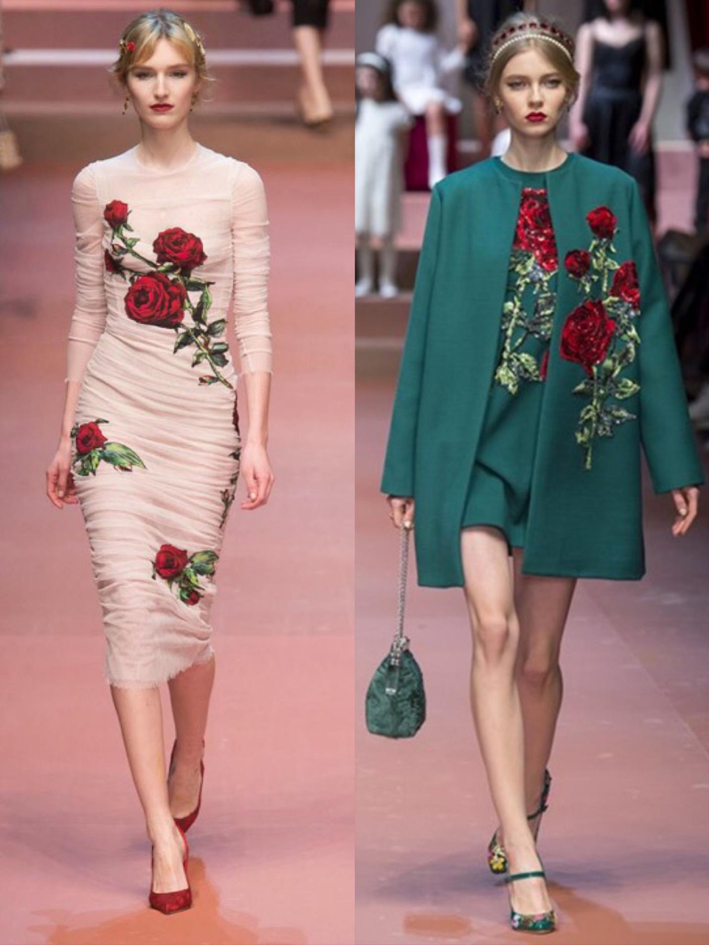 Cảm hứng hoa hồng trong những bộ sưu tập thời trang kinh điển - Ảnh 1.
