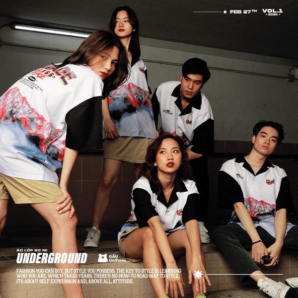 GẤU Uniform: Phá cách trong BST áo lớp sơ mi hoàn toàn mới - Underground - ảnh 3