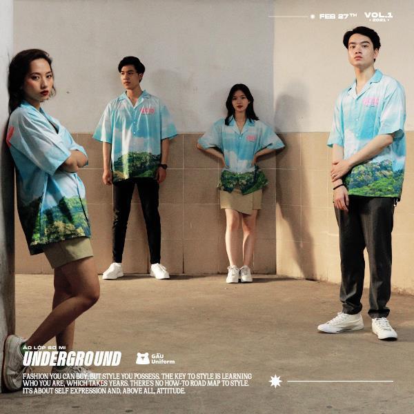 GẤU Uniform: Phá cách trong BST áo lớp sơ mi hoàn toàn mới - Underground - Ảnh 5.