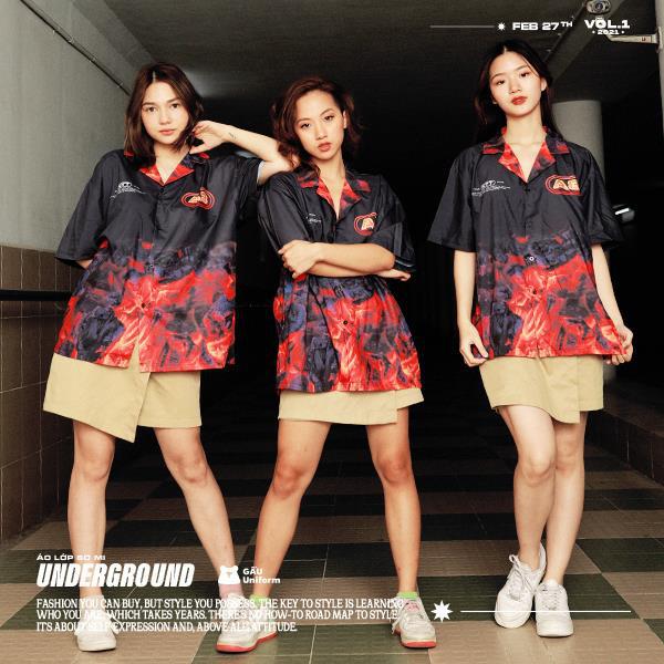 GẤU Uniform: Phá cách trong BST áo lớp sơ mi hoàn toàn mới - Underground - ảnh 6