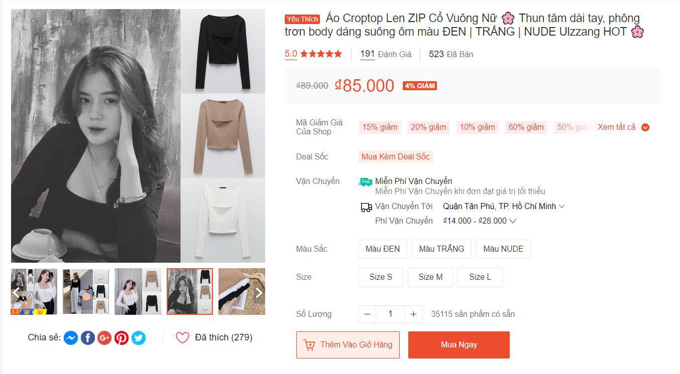Top những chiếc áo cực trendy đang được săn lùng nhiều nhất trên Shopee, có món giá mua hôm nay chỉ 19K! - Ảnh 7.