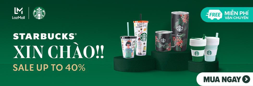 Gọi tên màn collab siêu hot hè này: Starbucks x Lazada, ưu đãi đến 40%, freeship toàn quốc, chỉ trong hôm nay - Ảnh 1.