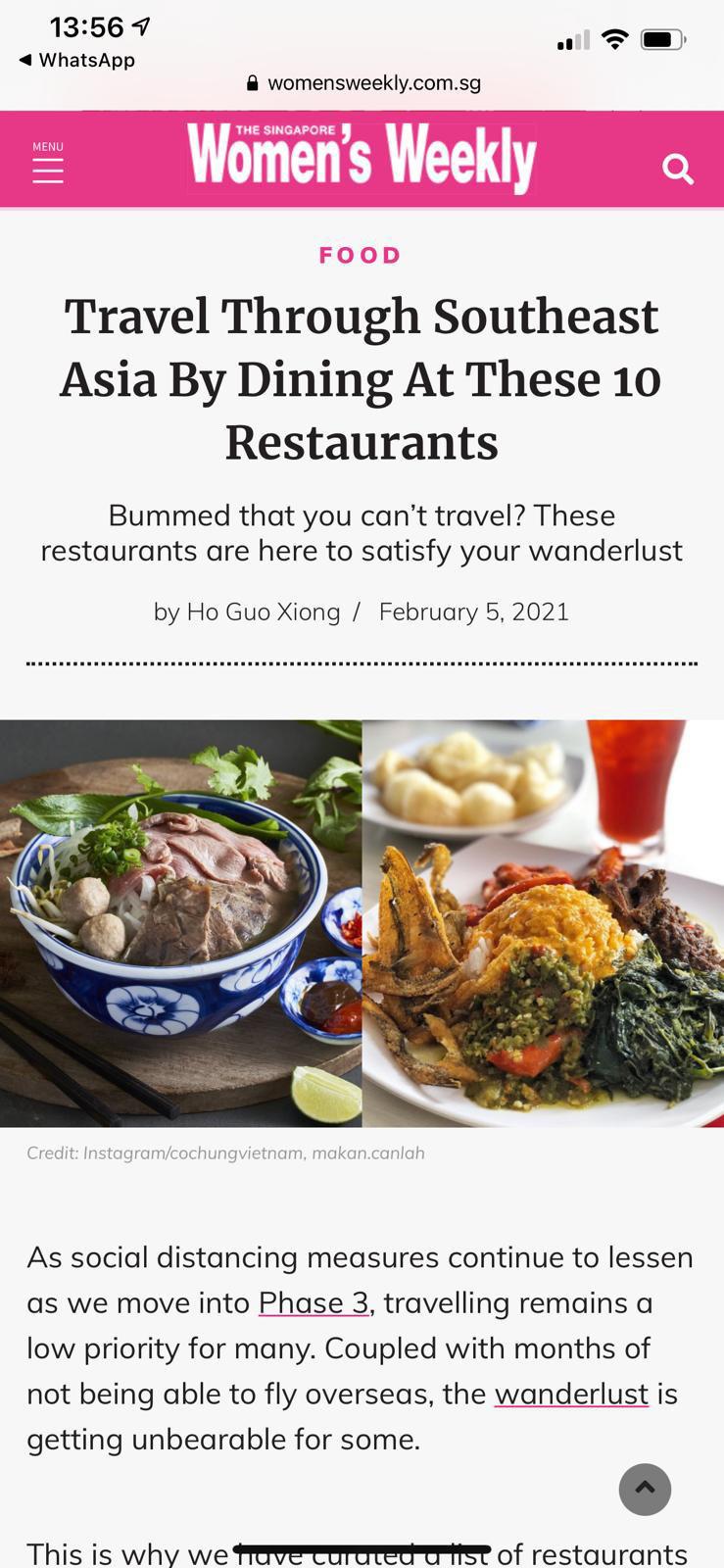 Nhà hàng Cô Chung tại Singapore được báo chí quốc tế khen ngợi - Ảnh 7.