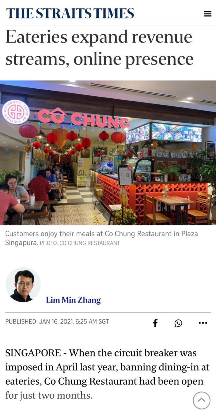 Nhà hàng Cô Chung tại Singapore được báo chí quốc tế khen ngợi - Ảnh 8.