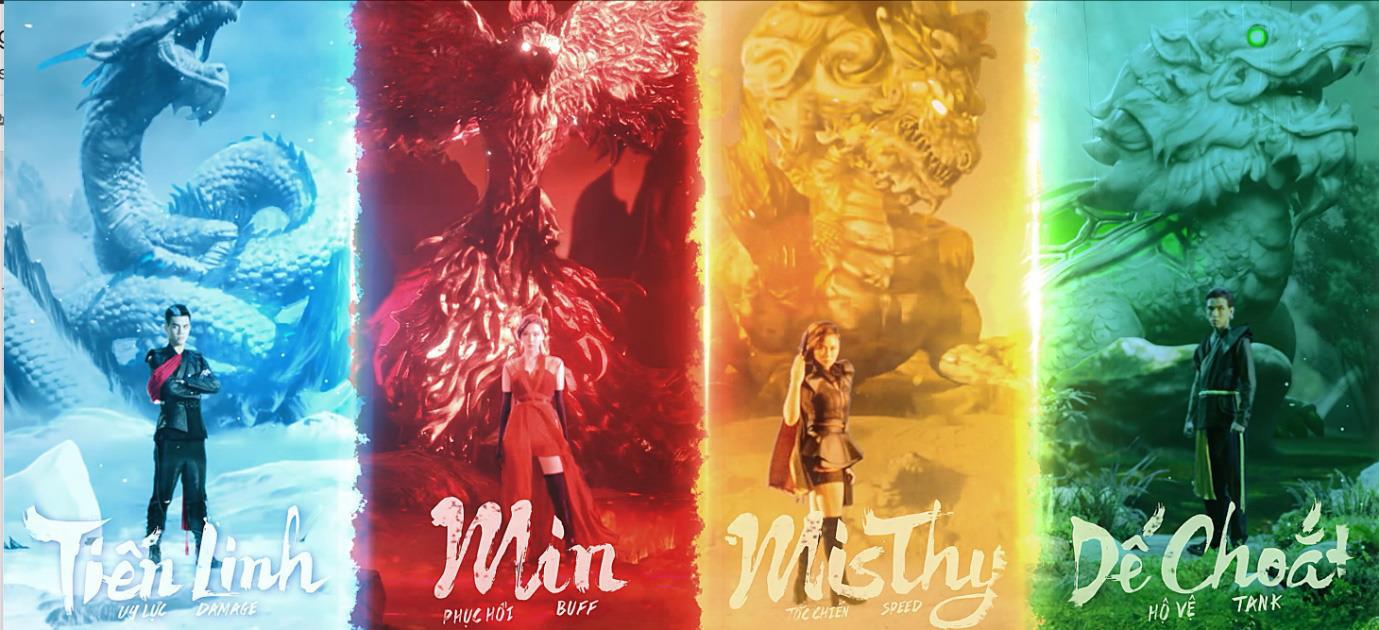 Tiến Linh, MisThy, Dế Choắt và Min hóa thân tứ linh, Võ Lâm Truyền Kỳ 1 Mobile dậy sóng giang hồ - Ảnh 1.
