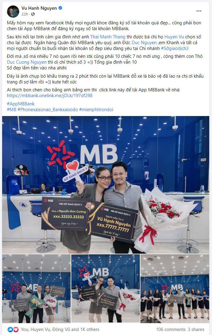 Bắt trend nhanh như sao Việt, ai cũng khoe chiến tích sở hữu số tài khoản đẹp rầm rộ trên trang cá nhân - Ảnh 3.
