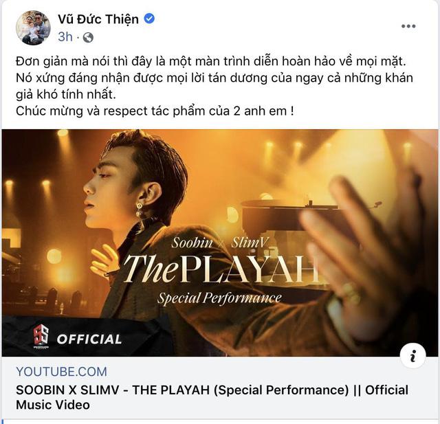 Khán giả phản ứng tích cực với SOOBIN trong bản phối mới The Playah của SlimV - ảnh 1