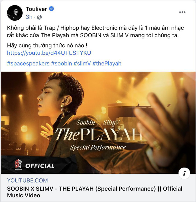 Khán giả phản ứng tích cực với SOOBIN trong bản phối mới The Playah của SlimV - ảnh 2