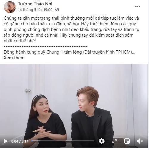 BB Trần, Hải Triều, Tăng Phúc, Trương Thảo Nhi... hưởng ứng chiến dịch đầy ý nghĩa - chung tay đẩy lùi đại dịch - Ảnh 3.