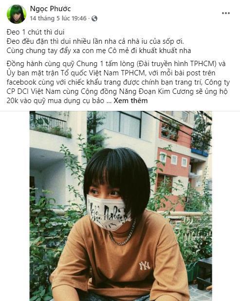 BB Trần, Hải Triều, Tăng Phúc, Trương Thảo Nhi... hưởng ứng chiến dịch đầy ý nghĩa - chung tay đẩy lùi đại dịch - Ảnh 6.
