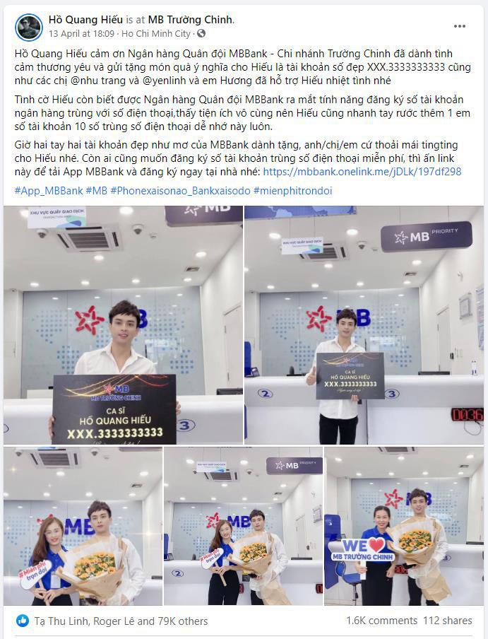 Hồ Quang Hiếu, Gigi Hương Giang cùng nhiều sao Việt khoe số tài khoản đẹp, dễ nhớ, nhìn đã thấy độc - Ảnh 2.