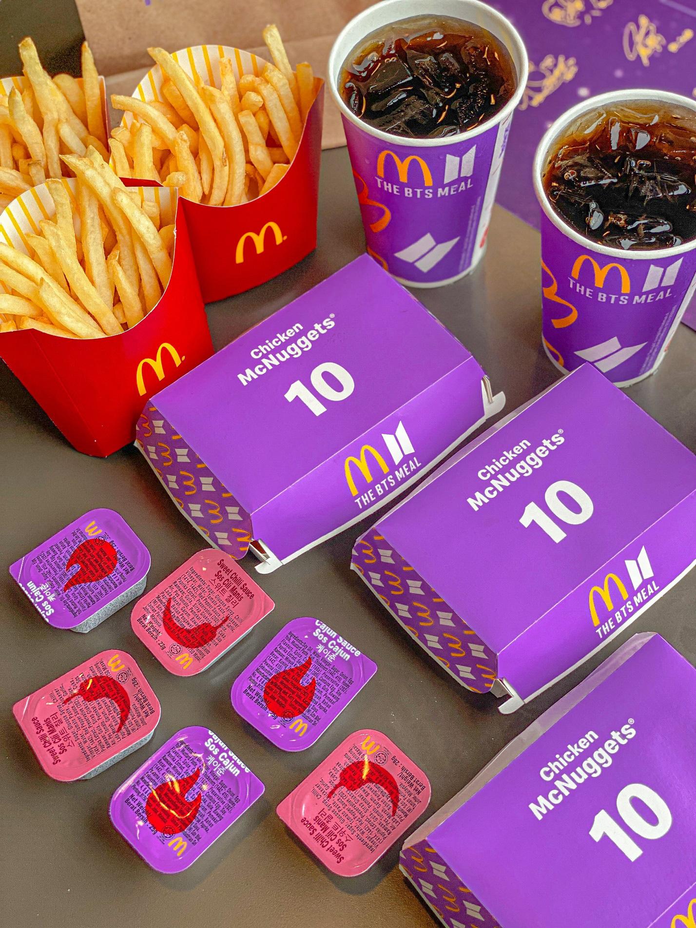 Cùng nhóm nhạc đình đám thế giới BTS thưởng thức Thực đơn từ thần tượng của McDonald's - Ảnh 3.