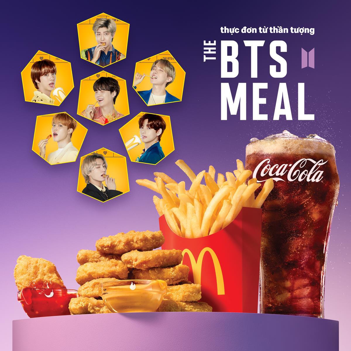 Cùng nhóm nhạc đình đám thế giới BTS thưởng thức Thực đơn từ thần tượng của McDonald's - Ảnh 1.