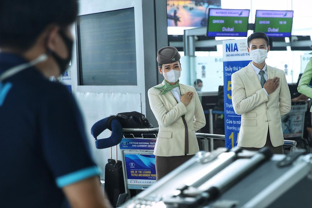 HLV Park Hang-seo cùng các học trò bay thẳng tới UAE trên chuyên cơ Bamboo Airways dự vòng loại World Cup 2022 - Ảnh 3.