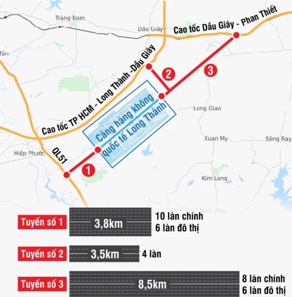 Tuyến đường số 1 kết nối cửa ngõ sân bay Long Thành