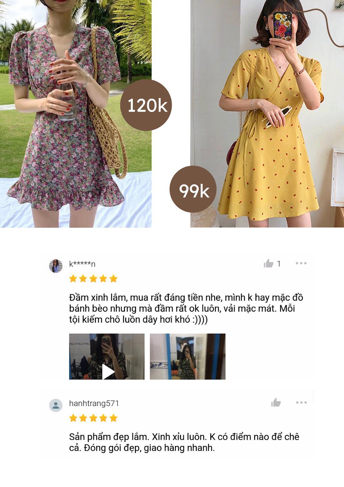Lướt Shopee mỗi ngày có chắc bạn biết 5 shop quần áo bán váy hoa siêu xinh có giá từ 80K! - Ảnh 3.