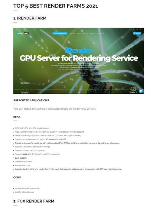 Một loạt bảng xếp hạng nổi tiếng quốc tế về dịch vụ Cloud Rendering gọi tên iRender Việt Nam - Ảnh 2.