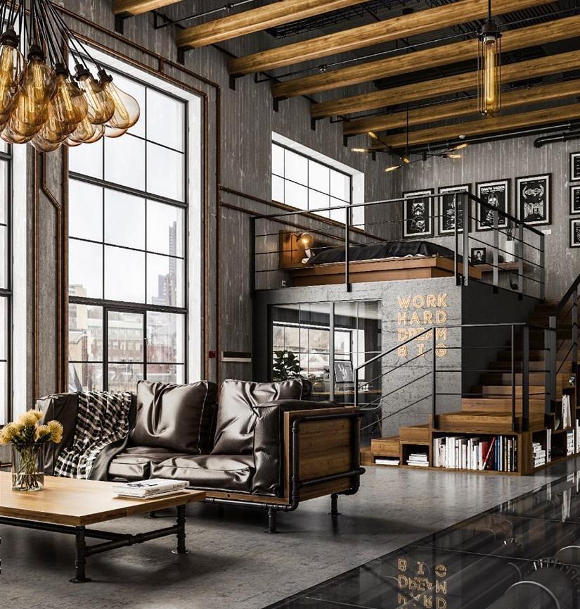Industrial: Phong cách thiết kế nội thất cá tính từ những điều mộc mạc - Ảnh 1.
