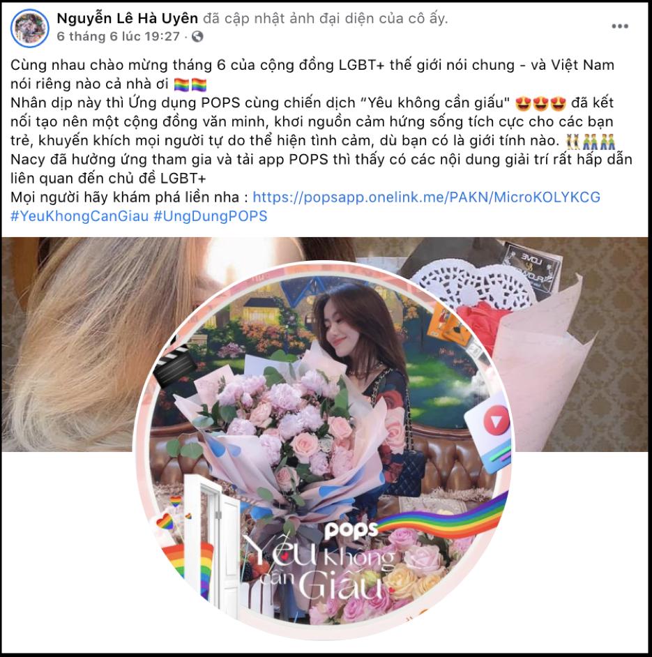 """Dàn hot face đồng loạt đổi avatar Facebook hưởng ứng tháng Tự hào LGBT+ cùng chiến dịch """"Yêu không cần giấu"""" - Ảnh 9."""