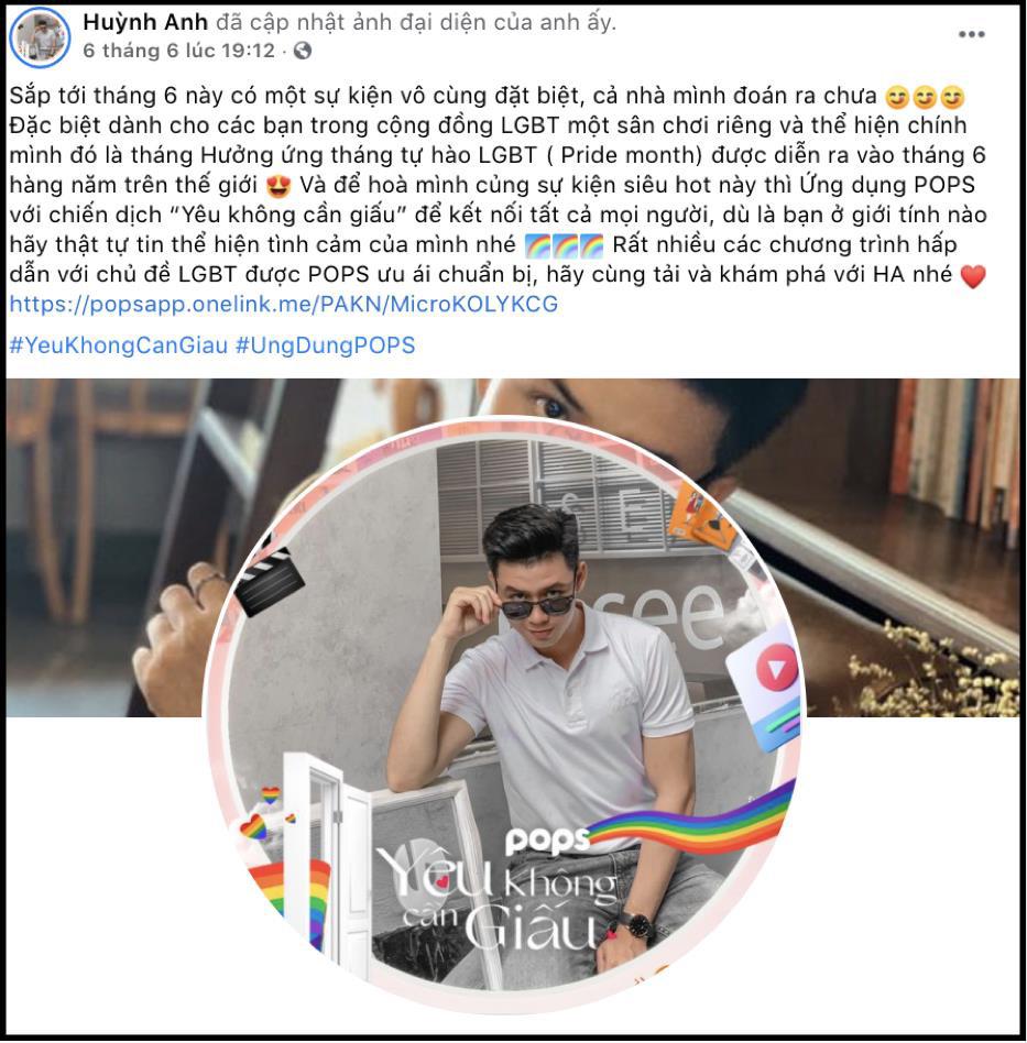 """Dàn hot face đồng loạt đổi avatar Facebook hưởng ứng tháng Tự hào LGBT+ cùng chiến dịch """"Yêu không cần giấu"""" - Ảnh 6."""