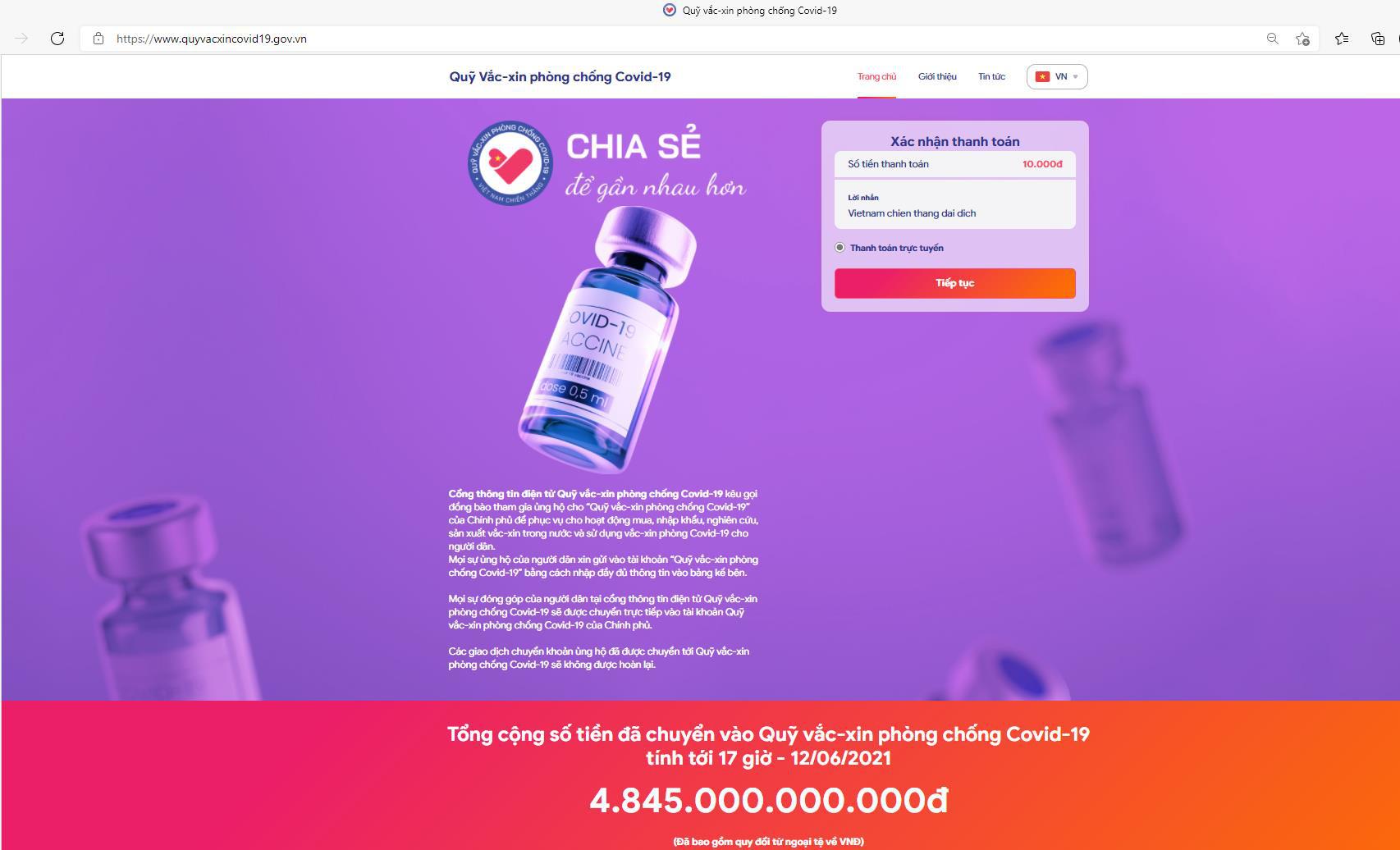 Chung tay góp vào quỹ vaccine - Chung tay chiến thắng đại dịch - Ảnh 2.