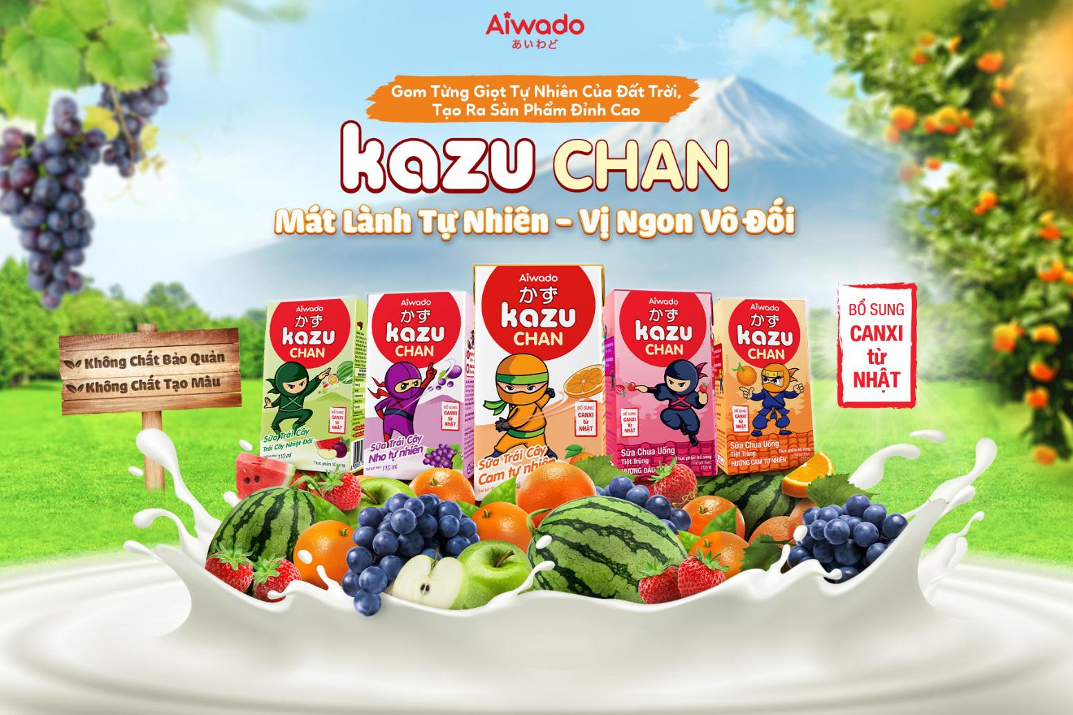Kazu Chan mát lành tự nhiên, tăng cường đề kháng cho trẻ trong mùa hè - Ảnh 1.