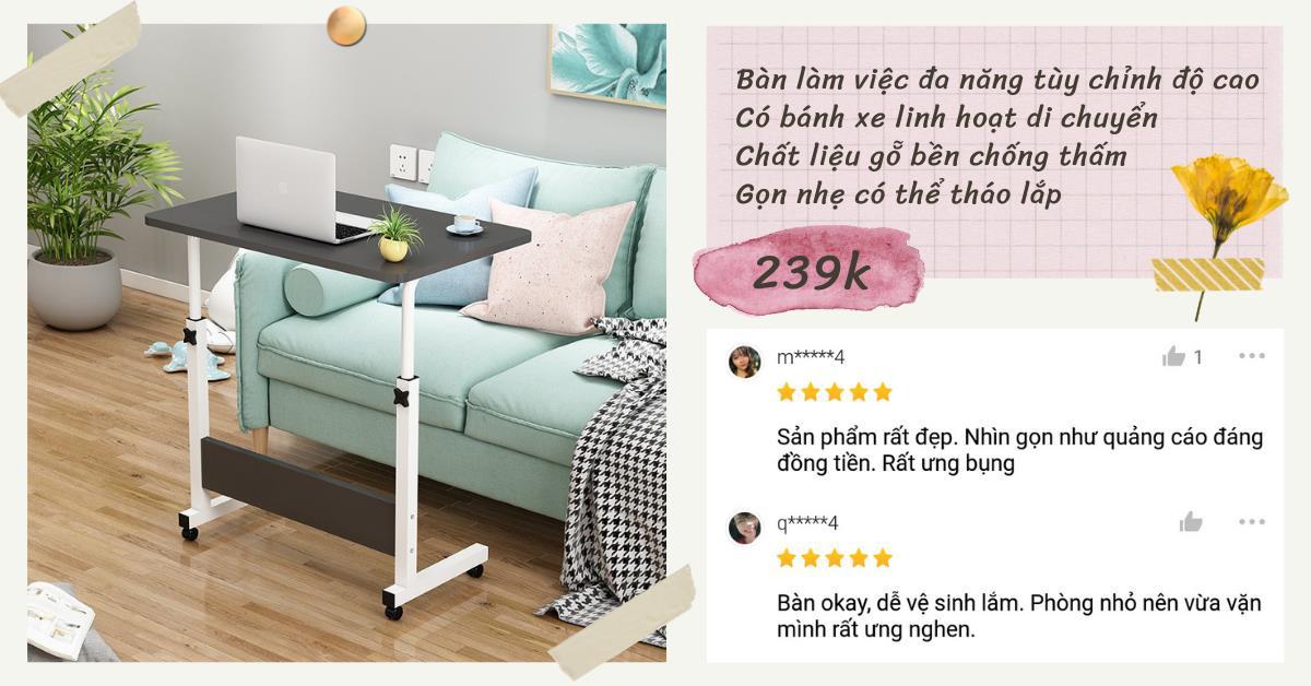 Mách bạn 3 mẫu bàn làm việc tại nhà siêu gọn với giá rẻ từ 194K - Ảnh 1.