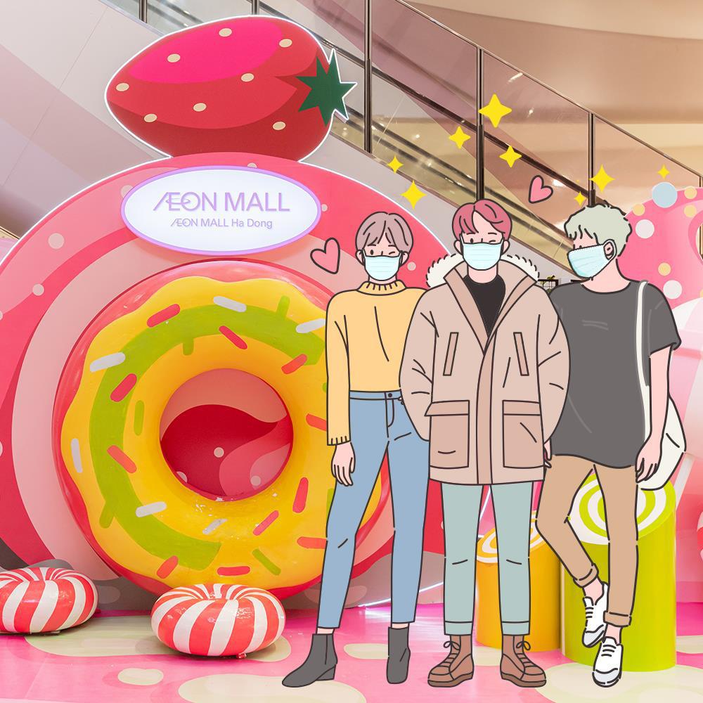 Gợi ý những dáng check-in cực xịn, đảm bảo nhận bão like tại Vùng đất kẹo ngọt AEON Mall Hà Đông - Ảnh 4.