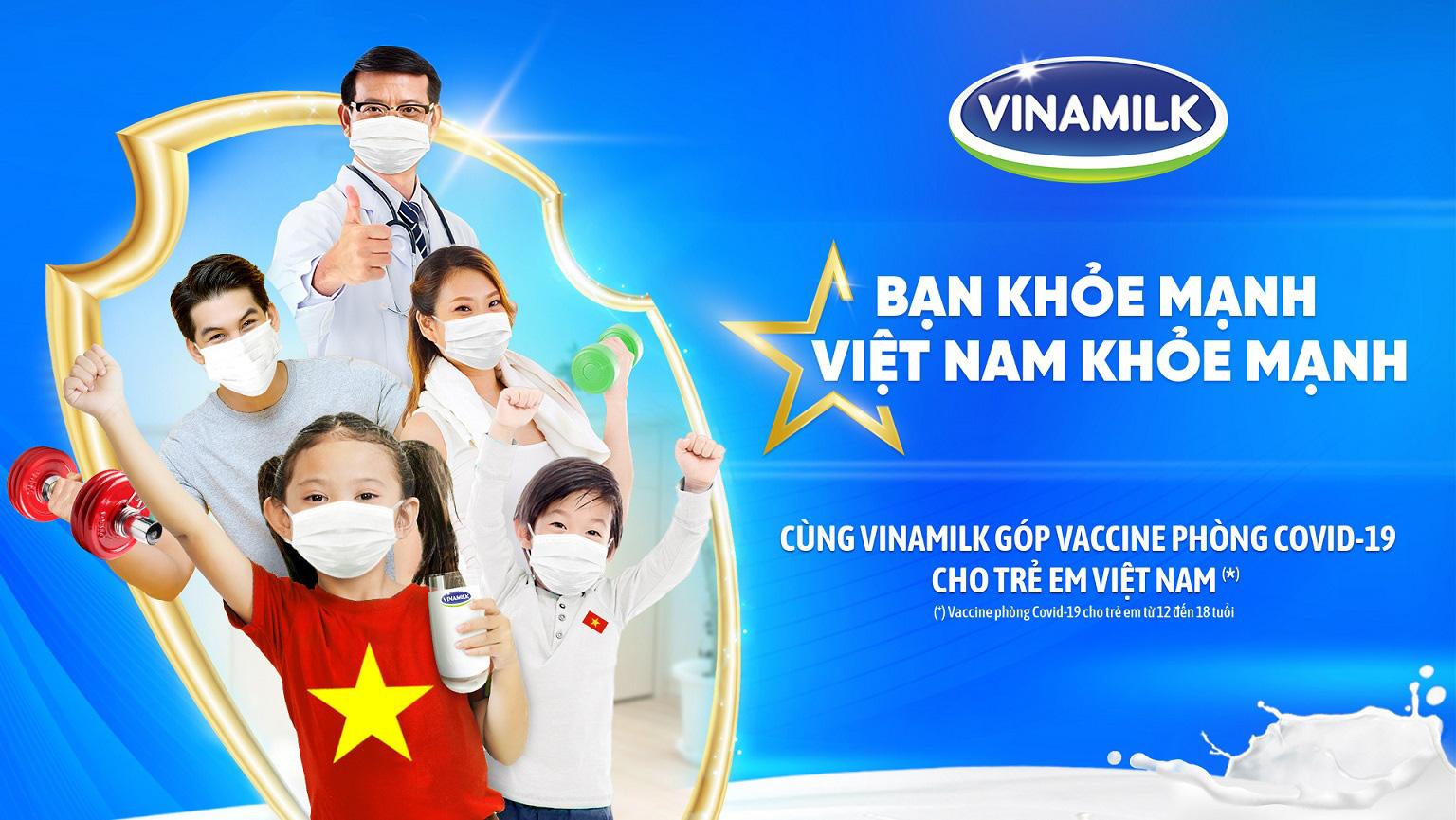 Vinamilk khởi động chiến dịch Bạn khỏe mạnh, Việt Nam khỏe mạnh với hoạt động góp vaccine phòng Covid-19 cho trẻ em - Ảnh 1.