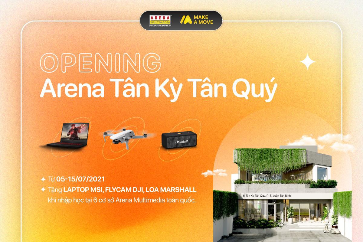 """Arena Multimedia khai trương cơ sở thứ 6 tại Tân Kỳ Tân Quý (TP.HCM): Tặng quà khủng cho """"tân binh"""" toàn quốc - Ảnh 1."""