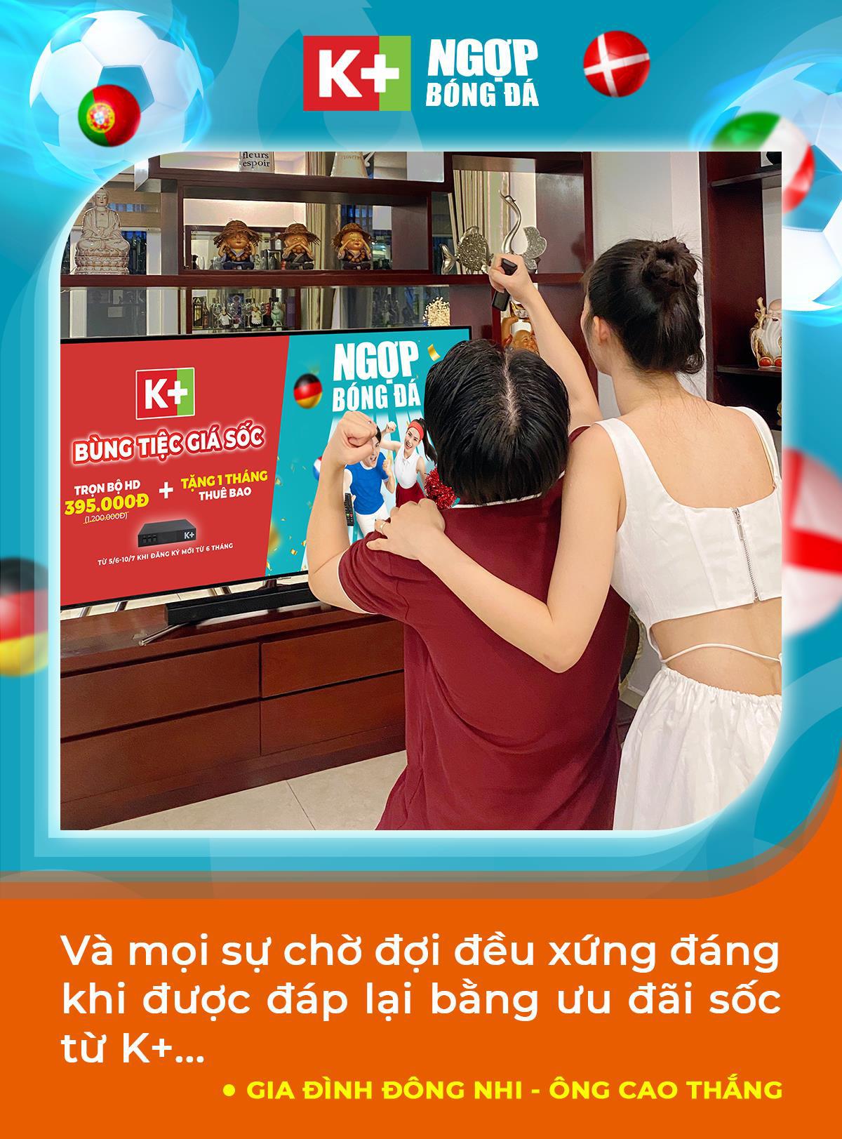 """Học tập Đông Nhi, Trang Lou tiếp sức cho chồng """"cháy"""" cùng UEFA Euro 2020™ trên K+ - Ảnh 3."""
