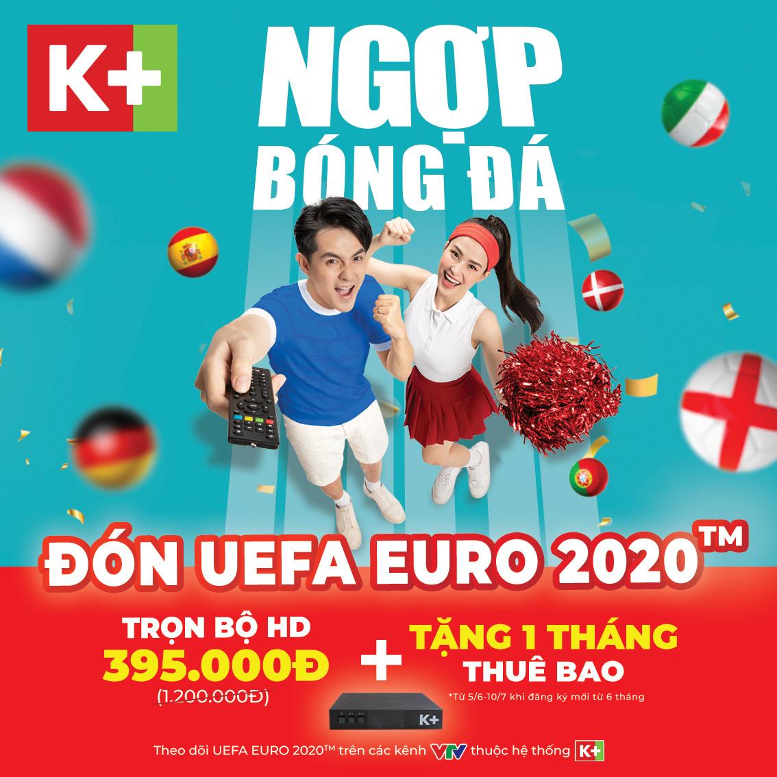 """Học tập Đông Nhi, Trang Lou tiếp sức cho chồng """"cháy"""" cùng UEFA Euro 2020™ trên K+ - Ảnh 9."""