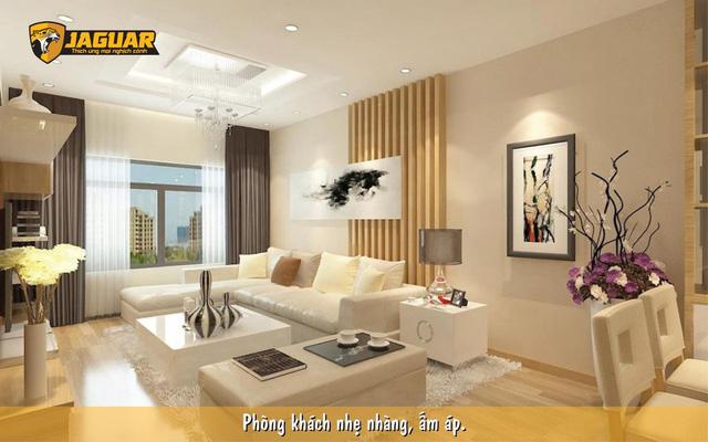 Cách biến tấu phòng khách với màu be quen thuộc cùng sơn Jaguar - Ảnh 1.