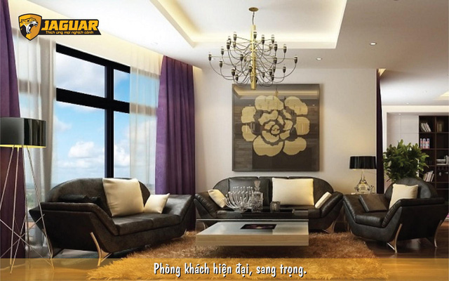 Cách biến tấu phòng khách với màu be quen thuộc cùng sơn Jaguar - Ảnh 2.