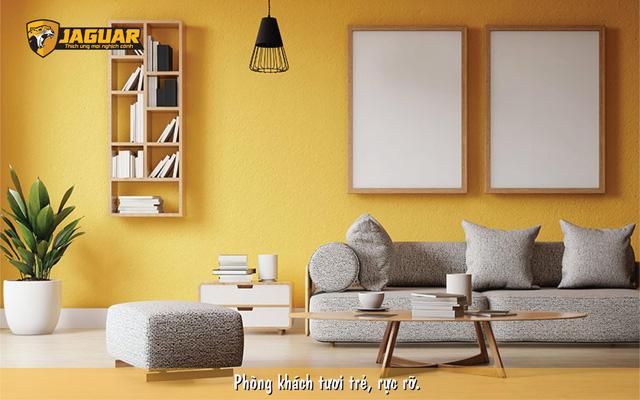 Cách biến tấu phòng khách với màu be quen thuộc cùng sơn Jaguar - Ảnh 3.