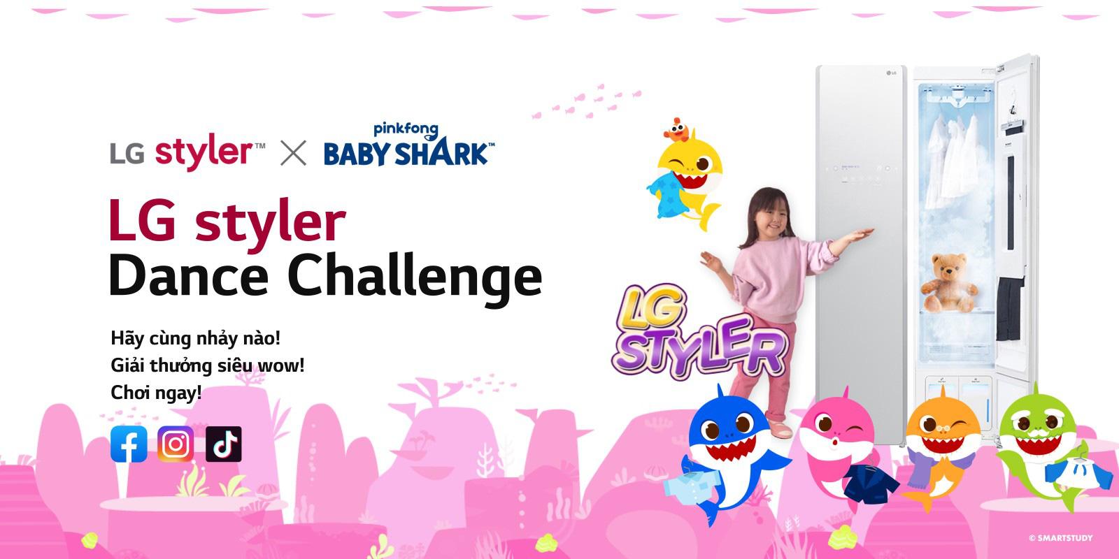 Bạn đã lỡ mất một trò vui nếu chưa tham gia cover điệu nhảy Pinkfong Baby Shark X LG Styler - Ảnh 4.