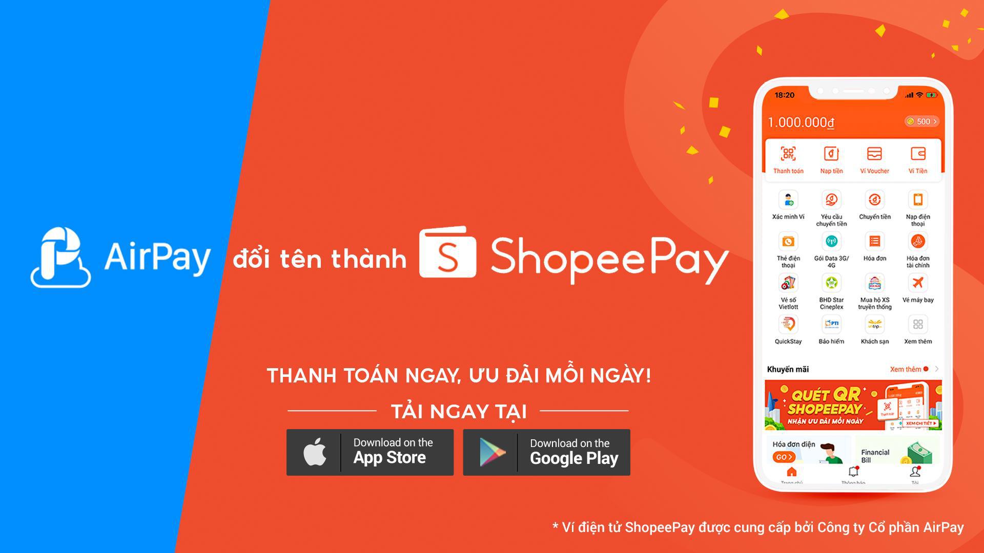 Từ hôm nay, hãy gọi ví AirPay là ShopeePay và đừng bỏ lỡ cơn mưa quà tặng - Ảnh 1.