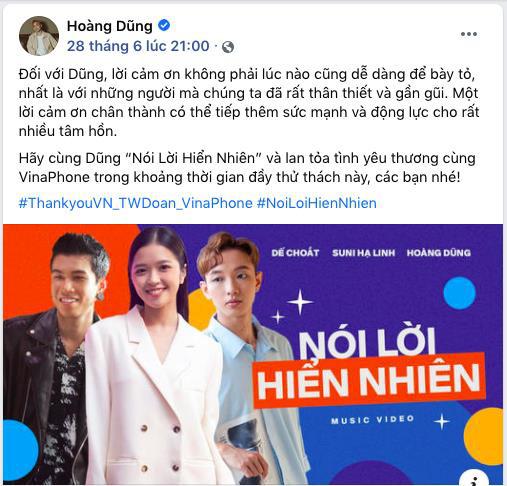 """Hoàng Dũng - Suni Hạ Linh xúc động khi nói lời """"cảm ơn"""", netizen thi nhau """"rần rần"""" vì verse rap của Dế Choắt - Ảnh 2."""