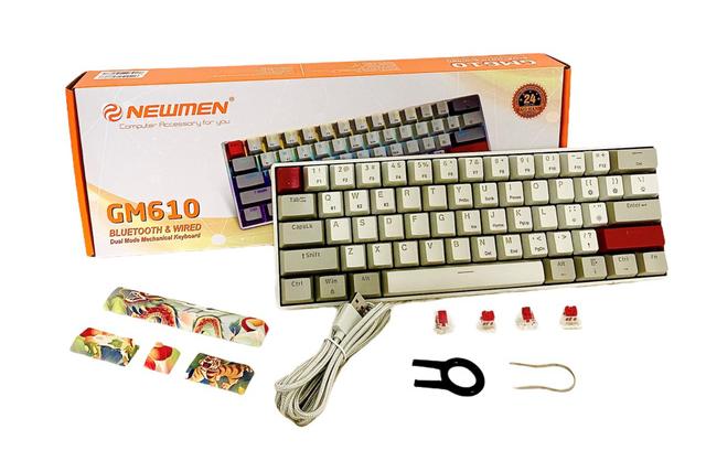 Newmen ra mắt bàn phím cơ tiện ích, 61 phím 2 chế độ GM610 bluetooth 5.0 - Ảnh 1.