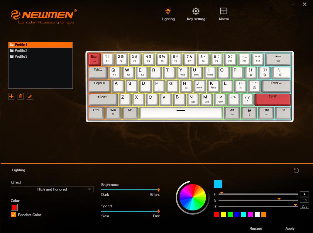 Newmen ra mắt bàn phím cơ tiện ích, 61 phím 2 chế độ GM610 bluetooth 5.0 - Ảnh 8.