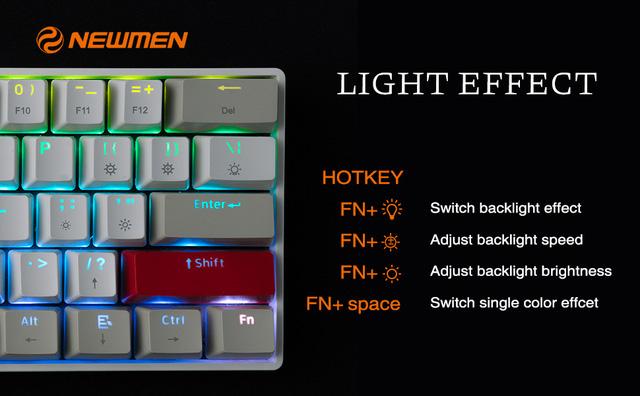 Ra mắt bàn phím cơ Newmen GM610 hai chế độ, thuận tiện - Ảnh 2.